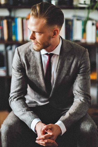 groom suits grey lumber jacket with red tie kreativ wedding