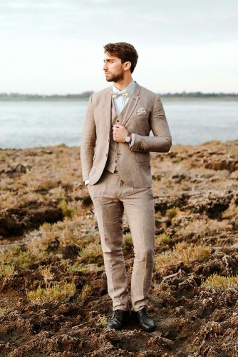 groom suits rustic with vest and bowtie linneo archivable clothing