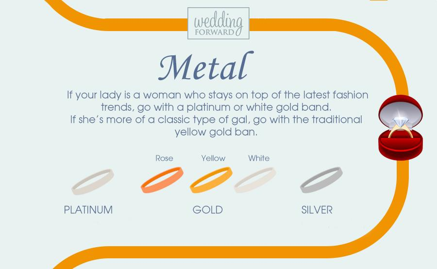 guide to engagement rings metal white rose gold platinum