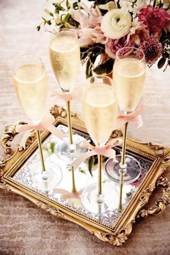 mirror wedding ideas glasses with champagne on a mirror tray nato welton