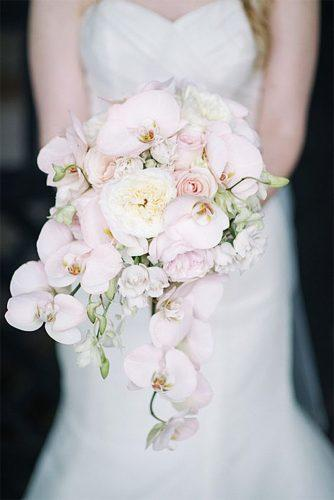 pink wedding bouquets white orchids sean money elizabeth fay photography