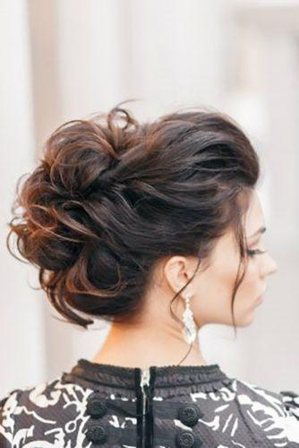 swept-back wedding hairstyles-messy-updo for long hair art4studio