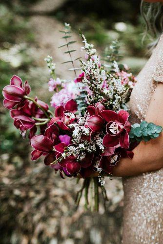 wedding bouquet ideas burgundy orchid kiamaalwaysflowers via instagram