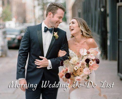 wedding day timeline morning wedding planning bride and groom happy together