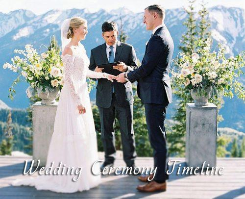 wedding day timeline wedding ceremony timeline bride and groom