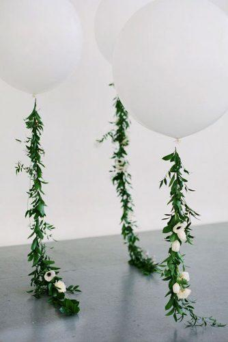 wedding greenery ballons with greenery natashakolenko