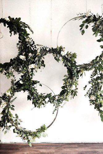 wedding greenery other decor ideas circles backdrop tribesnpines
