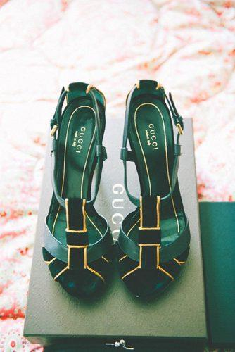 wedding greenery shoes
