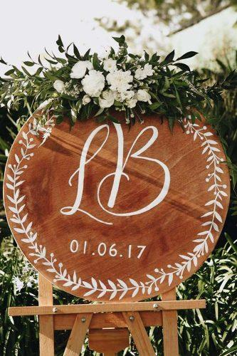 wedding greenery signs round with flowers paper darling