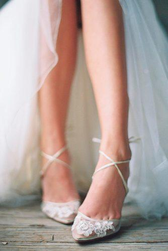wedding illusion mesh upper graced with delicate lace cross ankle straps lovely tied bow at heel cups classic shoes trends bella belle shoes