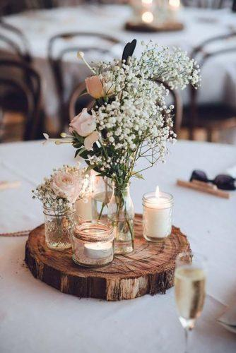 wedding table decorations babys breath gentle centerpiece studio something photography