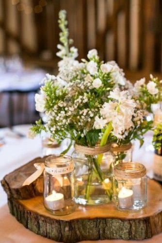 wedding table decorations babys-breath rustic centerpiece anneli marinovich