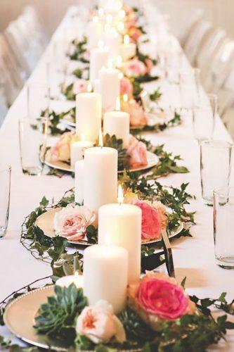 wedding table decorations candles-with-flower-briana purser photography