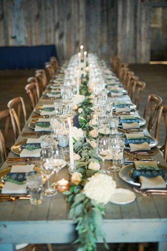 wedding table decoration greenery table gideon photography