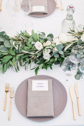 wedding table decorations minimalist greenery decor kate webber