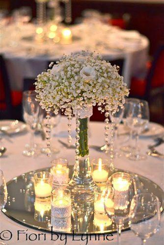 wedding table decorations romantic babys breath fior iby lynne