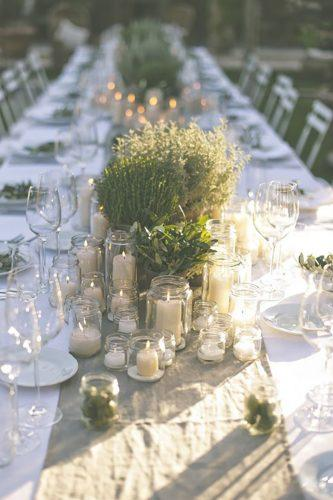 wedding table decorations rustic design with candles divine day photography