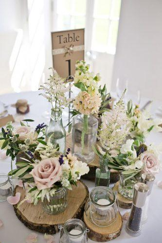 wedding table decorations rustiс flower centerpieces mark tattersall photography