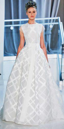 a line bateau casual wedding dresses with short sleeves and bow peter langner