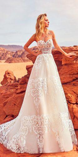 a line lace strapless sweetheart wedding dresses 2018 oksana mukha