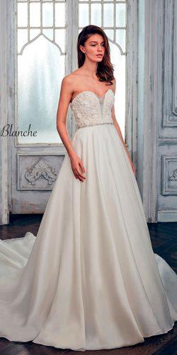 a line strapless sweetheart calla blanche wedding dresses