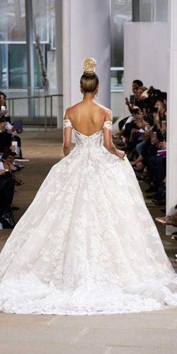 ball gown lace wedding dresses with open back ines di santo