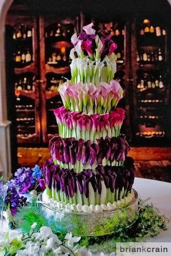 beautiful wedding cakes calla lilies fresh brian k crain