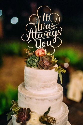 beautiful wedding cakes toppers script fresh flowers cindy lee photo