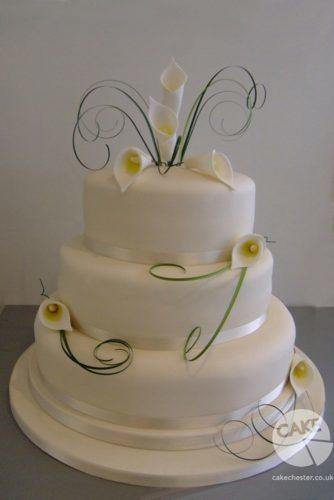 beautiful wedding cakes white calla lilies cake chester