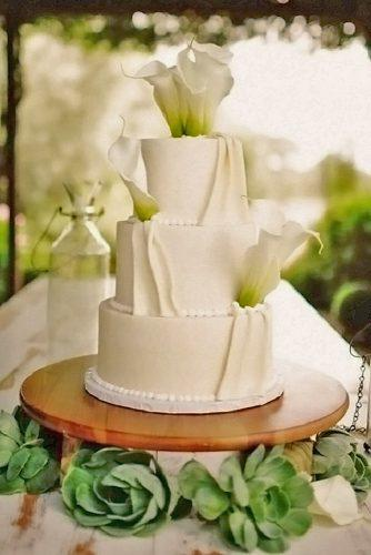 beautiful wedding cakes white fresh calla lilies kate harrison photography