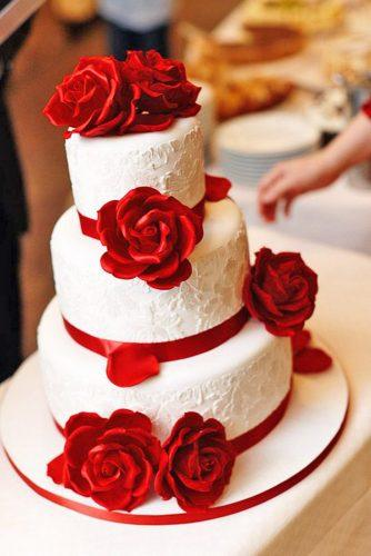 beautiful wedding red rose satin topper cakes patrick horn