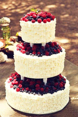 elegant wedding cakes cake with berries michelles