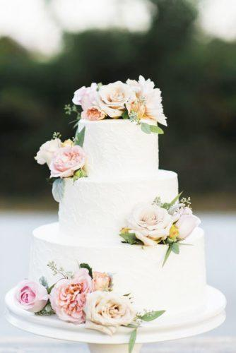 elegant wedding cakes flower decorated fresh peony caitlin oreilly