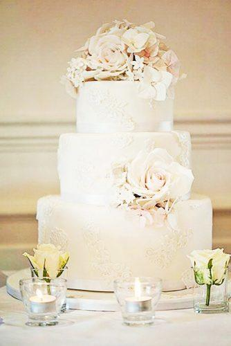 elegant wedding cakes lace decorated with pattern claire graham