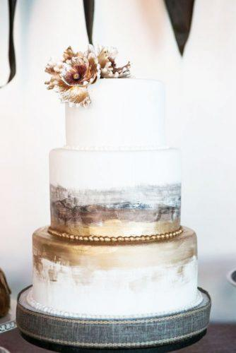 elegant wedding cakes marble and gold flower morgan miller