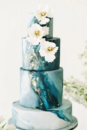 elegant wedding cakes marble turquoise colored nadia co