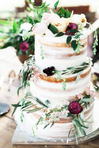 elegant wedding cakes naked and floral decorated bryann miller