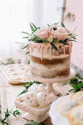 elegant wedding cakes naked cake with pink roses jenny cookies
