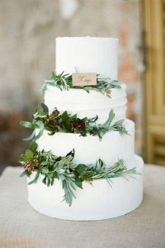 elegant wedding cakes rustic leaves wthite green rebecca arthurs