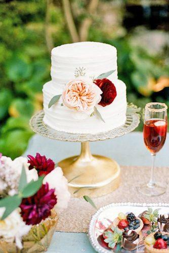 elegant wedding cakes small decorated big flowers jenna henderson