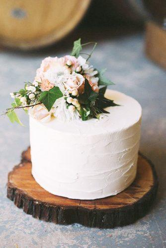 elegant wedding cakes small with bouquet katherine schultz