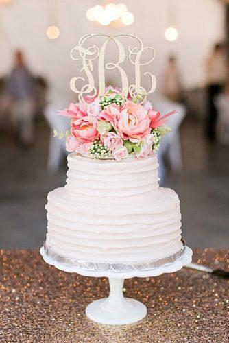 elegant wedding cakes white cake with gold topper incredible monograms