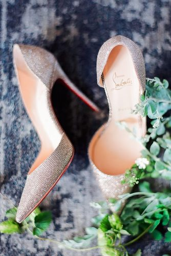 gorgeous bridal shoes high heels sparkly vintage loboutin world