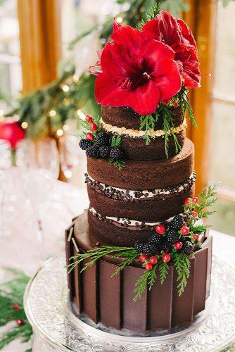 italian wedding cakes chocolate wedding black cake with mulberry and big red lilies sunglow photography