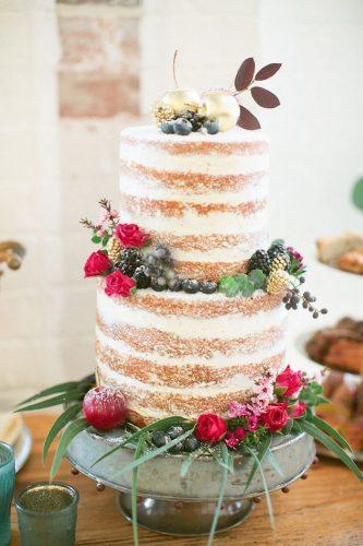 italian wedding-cakes-italian-naked cake with berries and-flowers-lauren sponaugle photography