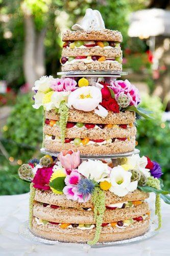 italian wedding cakes italian naked cake withcolorful flowers kate osborne