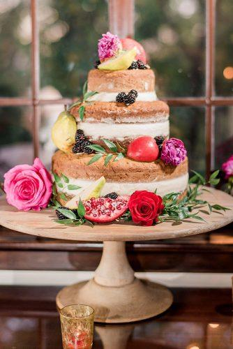 italian wedding cakes naked wedding cake with mulberry fresh fruits and peonies roses flowers steph smith weddings