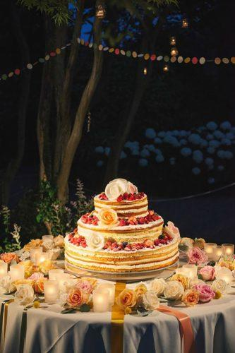 italian wedding cakes traditional naked-cake-with fruits innocenti studio