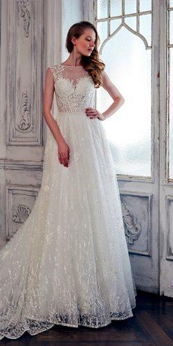 lace a line illusion sweetheart neckline calla blanche wedding dresses