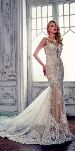 lace mermaid illusion sweetheart neckline calla blanche wedding dresses